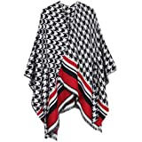 XIOUOUSD Mujer Poncho Cape Open Front Cardigan Wrap Shawl Knitted Cashmere Sweater Coat