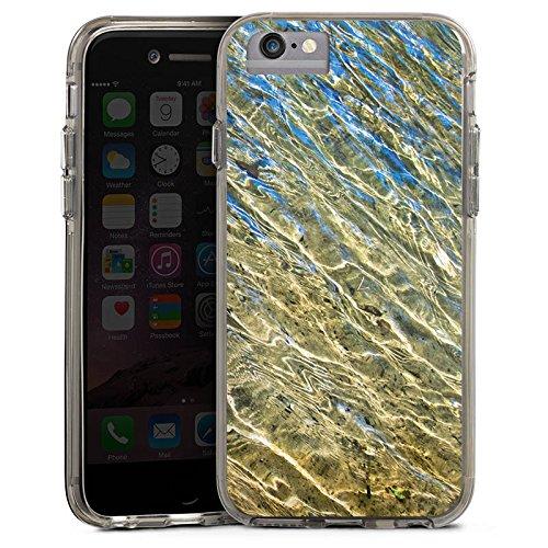 Apple iPhone X Bumper Hülle Bumper Case Glitzer Hülle Wasser Water Struktur Bumper Case transparent grau