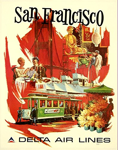 delta-air-lines-san-francisco-wonderful-a4-glossy-art-print-taken-from-a-rare-vintage-travel-poster