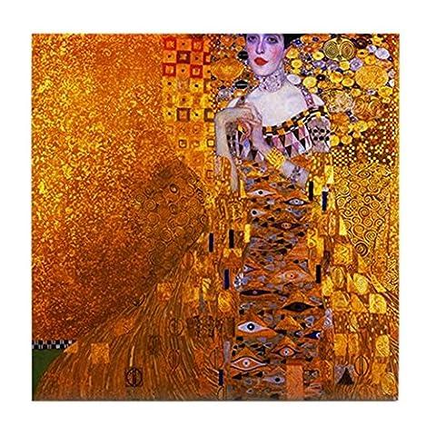 CafePress - Klimt: Adele Bloch-Bauer I. - Tile Coaster, Drink Coaster, Small Trivet