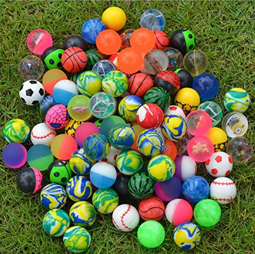 ulooie 100 pcs mixed color Bouncy Jet pelotas Kids cumpleaños PAPTY Creative Regalos juguete
