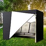 Wrighteu Funda para Balancín de Jardín Cubierta de Columpio para Exterior Impermeable Protectora para 2 y 3 Plazas Columpio Negro 220 * 170 * 125cm