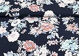 Toller Baumwoll Jersey Stoff Floral gemustert mit XL Blumen