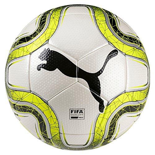 PUMA Final 2 Match Pallone da Calcio Unisex Adulto White/Lemon Tonic/Black 5