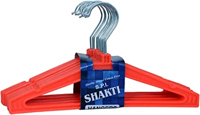 Shakti Premium Quality Baby Hanger-Hooked-Red (Pack of 12)