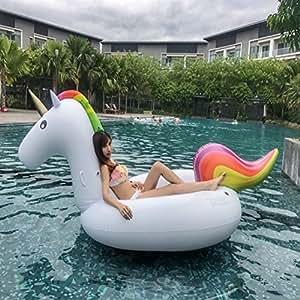 Unicorno gigante galleggiante per festa in piscina gommone gonfiabile canotto galleggiante - Unicorno gonfiabile piscina ...