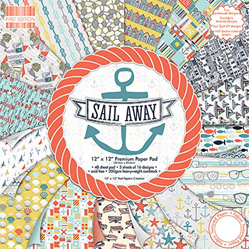 """First Edition Sail Away Premium Paper Pad 12""""x12"""" 48 Sheets"""