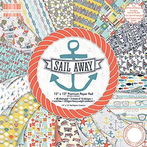 "First Edition Sail Away Premium Paper Pad 12""x12"" 48 Sheets (FSC)"