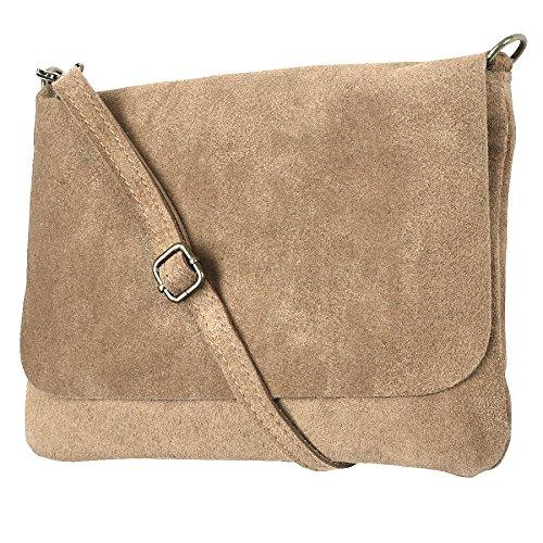 Clutch / Minibag, Tracolla Mod. 1400 Vera Pelle Scamosciata, Litalia Alleggerisce