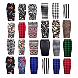 Search : mafhh55® Ladies Leopard Stripes Skull Bones Prints High Waist Wiggle Tube Womens Stretched Bodycon Pencil Midi Skirt Evening Cocktail Skirt Plus Sizes