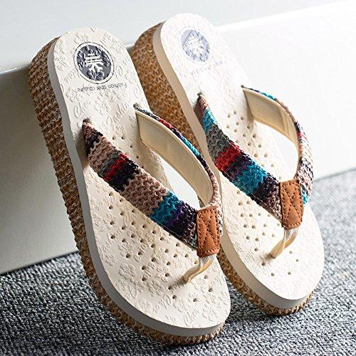 Estate Sandali Pantofole di moda estiva Pantofole a pelo scivoloso Pantofole fresche per la spiaggia per18-40 anni Colore / formato facoltativo #3