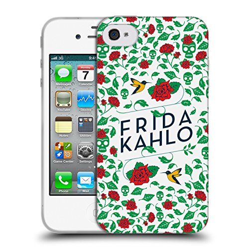 Ufficiale Frida Kahlo Ritratto Icone Cover Morbida In Gel Per Apple iPhone 6 Plus / 6s Plus Uccelli e Rose