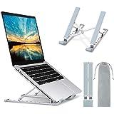 Babacom Supporto PC Portatile, 9-Levels Regolabile Raffreddamento Supporto Laptop, Alluminio Ventilato Porta PC, Leggero Note