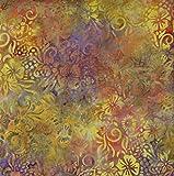 Fabric Freedom Gelb Loom Design 100% Baumwolle Bali Batik Tie Dye Muster Stoff für Patchwork, Quilten &,–(Preis Pro/Quarter Meter)