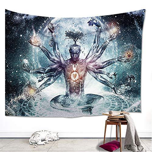Kevin Bin Hippie-Tapete gedruckt Lotus Wandteppich Böhmen Mandala Wandteppich Serviette Plage Wandbehang für Wanddekoration Yoga Matte