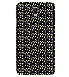 Fuson Premium Golden Stars Printed Hard Plastic Back Case Cover for Samsung Galaxy Note 3 Neo N7505
