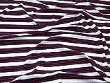 Streifen Baumwolle Gerippter Stretch Jersey Knit Kleid