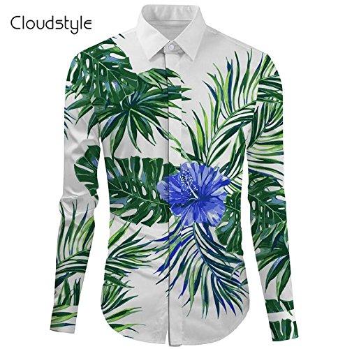 Mayuan520 camicie da uomo cloudstyle2017 maschio maglietta sociale cinese moda shirt camicia di seta abbigliamento uomo manica lunga divertente camicie hawaiane casual cotone,verde,eur xxl
