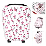 Zooawa Stilltuch Stillschal elastic Mamascarf Baby Krankenpflege Abdeckung Milkscarf zum Stillen Abdeckung, Flamingos