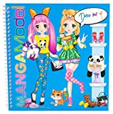 Depesche 8519 - Stickerbuch Dress me up Manga Model, circa 18 x 17.5 x 1 cm