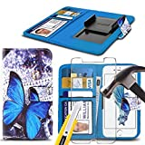 i-Tronixs (Blue Buterfly 5.5 inch) PRINTED DESIGN case for