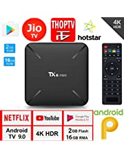 X96 Android Box Tanix TX6 Mini 2GB 16GB Android Box for TV, JIO TV HotStar Netflix YouTube Miracast & More, 2.4G WiFi Smart Android TV Box 4K