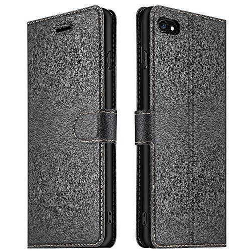 ELESNOW Coque pour iPhone 6 / 6s, Premium Portefeuille Étui Housse en Cuir Compatible avec Apple iPhone 6 / 6s (Noir)