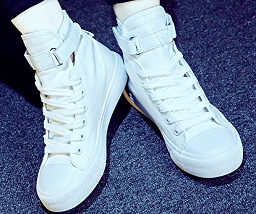 Chaussure en toile amoureux adulte mixte fille garçon basket mode Blanc