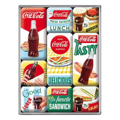 Nostalgic-Art 83098 Coca-Cola - Delicious, Magnet-Set (9teilig) (Vintage Coca-cola-werbung)