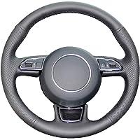 pour BMW M Sport M3 E90 E91 E92 E93 E87 E81 E82 E88 WBMKH Housse de Volant de Voiture en Cuir Noir Cousue /à la Main