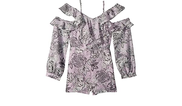fcc7a22cf7 Bardot Junior Girl s Edrie Frill Playsuit (Big Kids) Spring BLM 16   Amazon.co.uk  Clothing