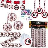 Unbekannt 44 TLG. Set Partyset zum 18ten 18. Geburtstag Dekopaket Partypaket Dekoration