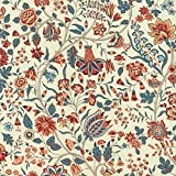 Textiles français Baumwollstoff   Les Fleurs d'Inde Blumen
