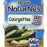 Nestlé - Naturnes - Petits pots pour bébés, courgettes, de 4 à 6 mois, sans sel ajouté - Les 2 pots de 130g -...