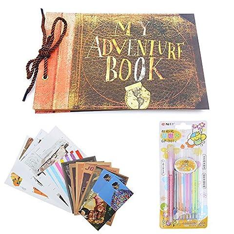 Osunp «My Adventure Book» Album photo de style rétro pour scrapbooking, idéal pour photos d'anniversaire, de mariage, etc., couleur marron