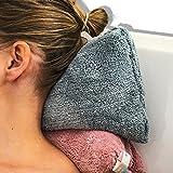 """Juego de 2 almohadas de baño de 40cm x 20cm (15"""" x 7"""") calidad premium - Con potentes ventosas que proporcionan agarre adicional - Materiales de primera calidad extra suaves - Diseñadas para un apoyo máximo de la cabeza y el cuello - Se adaptan a cualquier tamaño de bañera o jacuzzi - Garantía de devolución del 100% del dinero"""