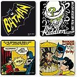 DC Comics - Batman Juego de posavasos de nevera - Juego de 4 coaster - multicolor - Diseño original con licencia - Logoshirt