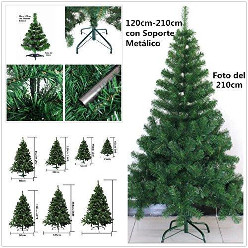 Árbol de Navidad artificial verde Envio Gratis* C/Soporte metálico árboles 60cm-210cm (180CM 477 RAMAS)