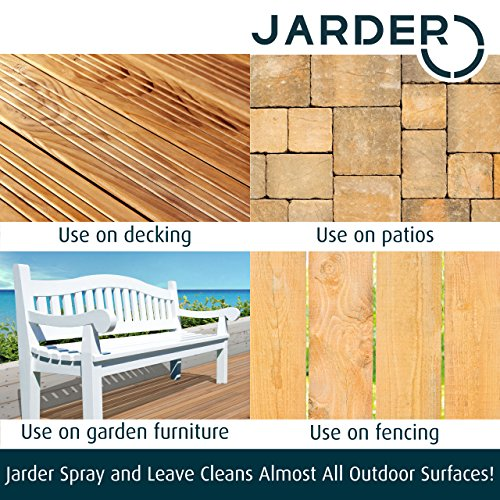 Jarder Spray & Leave 4 x 5 Litre Concentrate Cleaner - Patio Fencing Decking - Moss Mould & Algae Killer