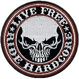 "Patch biker Craneo ""Live Free Hardcore"""