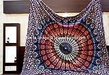 Madhu International Grande tenture style hippie bouddhiste Motif mandala by Madhu International...