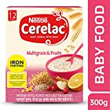 Nestlé CERELAC Fortified Baby Cereal with Milk, Multigrain & Fruits – From 12 Months, 300g BIB Pack