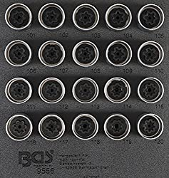 BGS 9556 Rim Lock Tool Set for Opel, Vauxhall (Type A) 20 Pieces
