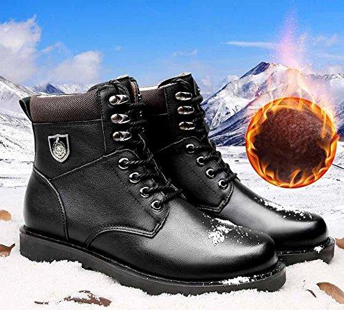 Uomini All'aperto Martin Stivali Inverno Caldo Foderato Di Pelliccia A Passeggio Stivali In Cima Moda Lavoro Stivali Grande Dimensione Black