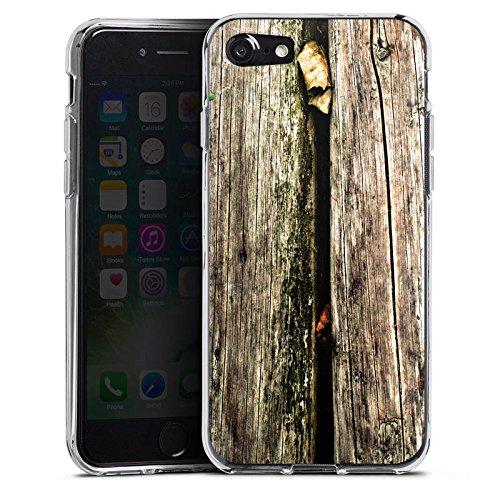 Apple iPhone X Silikon Hülle Case Schutzhülle Planken Moos Holz Look Silikon Case transparent
