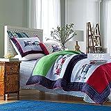 accface suave–Juego de ropa de cama para niños tren patrón edredones solo doble King size, algodón, Train, suelto