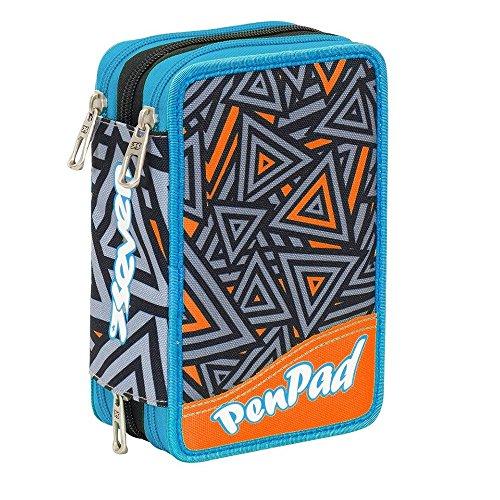 Pen pad astuccio seven 3 zip lavabile shifty boy nero completo penne frixion colori giotto collezione 2018 astuccio 3 cerniere con colori