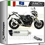 Arrow Kit Auspuff Hom Racetech Aluminium White Carby Suzuki GSR 75020131371776AKB + 71442Ich