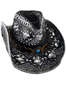Running Bear - Sombrero de cowboy - para mujer Negro schwarz7weiß