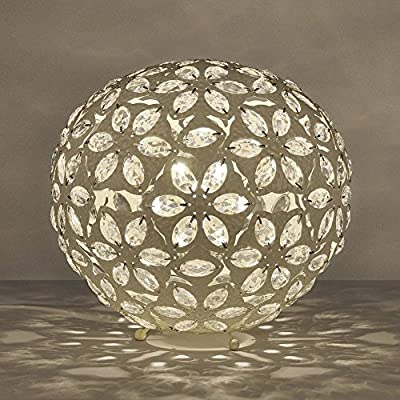 Modern Moroccan Style Metal Ball Table Lamp - Complete With 1 x 4w LED SES E14 Candle Bulb